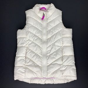 Old Navy Girls Fleece Lined Puffer Vest Size: 6/7